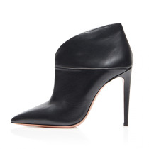 Arden Furtado fashion women's shoes in winter 2019 peep toe black chunky heels pumps party shoes wire side concise office lady