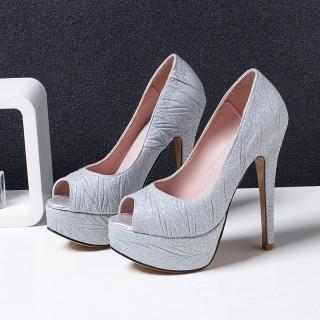 Arden Furtado fashion women's shoes stilettos heels party shoes peep toe pumps waterproof elegant platform wedding shoes size 43