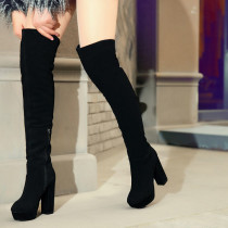Arden Furtado fashion women's shoes in winter 2019 sexy elegant ladies boots over the knee high boots concise mature chunky heels office lady