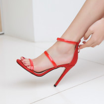 Arden Furtado summer 2019 fashion trend women's shoes stilettos heels concise zipper pure color big size 43 sandals office lady