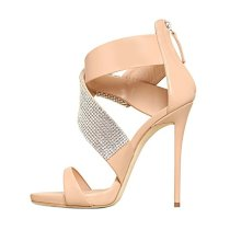 Arden Furtado summer 2019 fashion women's shoes elegant sandals party shoes big size 45 crystal rhinestone shoes
