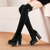 Arden Furtado fashion women's shoes in winter 2019 pointed toe joker chunky heels elegant ssexy lip-on over the knee high boots