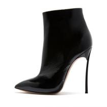 Arden Furtado fashion women's shoes in winter 2019 pointed toe stilettos heels zipper zipper short boots leather big size 43