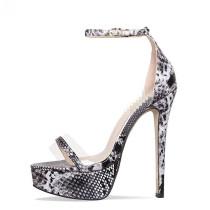 Arden Furtado summer 2019 fashion trend women's shoes buckle stilettos heels party shoes  sandals serpentine big size 45 office lady