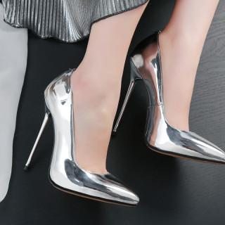 Arden Furtado summer 2020 fashion women's shoes pointed toe metal heels stilettos heels slip-on pumps party shoes