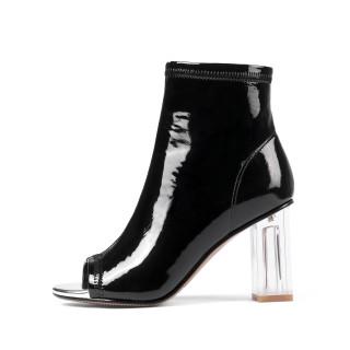 Arden Furtado summer fashion women's shoes peep toe red chunky heels crystal heels peep toe summer boots large size