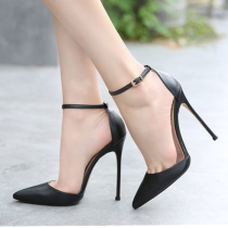 Arden Furtado summer 2019 fashion trend women's shoes pointed toe stilettos heels buckle leather sandals concise narrow band