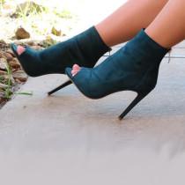 Arden Furtado summer 2019 fashion trend joker women's shoes stilettos heels peep toe  pure color cool boots big size 45 elegant concise