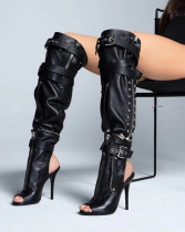 Arden Furtado summer 2019 fashion trend women's shoes sexy pure color big size 45 leather metal decoration ladies boots concise mature office lady