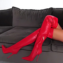 Arden Furtado fashion women's shoes 2019 online celebrity white over the knee high boots stilettos heels red boots