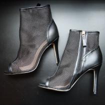 Arden Furtado summer 2019 fashion trend women's shoes stilettos heels zipper peep toe concise office lady cool boots wire side