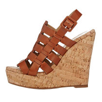 Arden Furtado summer 2019 fashion women's shoes narrow band buckle wedges sandals waterproof