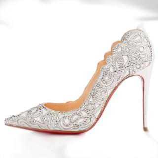 Arden Furtado summer 2019 fashion women's shoes pointed toe white crystal rhinestone stilettos heels slip-on pumps white wedding shoes