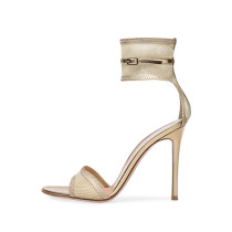 Arden Furtado summer 2019 fashion trend women's shoes stilettos heels buckle apricot sandals party shoes office lady sexy elegant lace