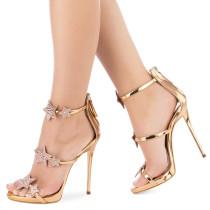 Arden Furtado summer 2019 fashion trend women's shoes stilettos heels zipper silver sandals concise classics party shoes ladylike temperament office lady