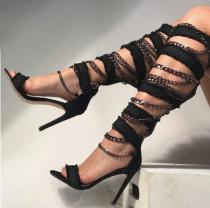 Arden Furtado summer 2019 fashion trend women's shoes stilettos heels zipper sandals blue denim cool boots novelty metal decoration