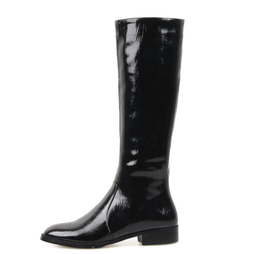 Arden Furtado fashion women's shoes in winter 2019 pointed toe slip-on knee high boots pure color classics leather concise
