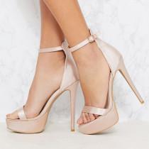 Arden Furtado summer 2019 fashion trend women's shoes pure color stilettos heels serpentine  big size 45 buckle sandals party shoes