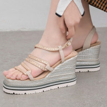 Arden Furtado summer 2019 fashion trend women's shoes Europe and America pure color buckle narrow band concise ladylike temperament waterproof sandals
