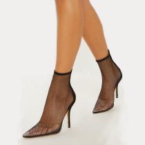Arden Furtado summer 2019 fashion trend women's shoes pointed toe stilettos heels  mature sexy  big size 43 elegant zipper party shoes  cool boots short boots