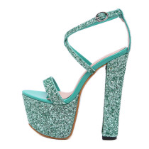 Arden Furtado summer 2019 fashion trend women's shoes joker sexy  one word buckle online celebrity  red green gun color elegant party shoes sandals pure color
