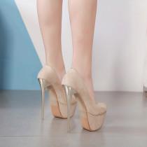 Arden Furtado 2019 fashion women's shoes stilettos heels 16cm party shoes  slip-on round toe waterproof pumps elegant platform shoes