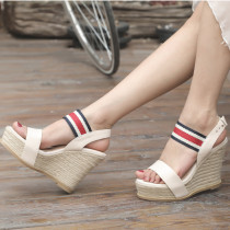 Arden Furtado summer 2019 fashion trend women's shoes  sexy elegant pure color wedges concise ladylike temperament comfortable