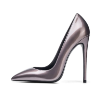 Arden Furtado summer 2019 fashion trend women's shoes pointed toe stilettos heels slip-on pumps big size 45 concise office lady shallow mature