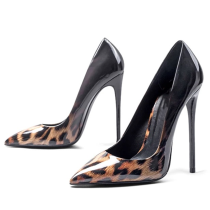 Arden Furtado spring autumn 2019 fashion women's shoes pointed toe stilettos heels 12cm slip-on leopard print pumps party shoes