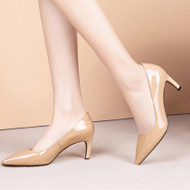 Arden Furtado summer 2019 fashion trend women's shoes pointed toe stilettos heels pure color  brown slip-on pumps