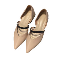 Arden Furtado summer 2019 fashion trend women's shoes pointed toe chunky heels  beige white pumps concise mature office lady