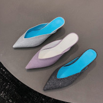 Arden Furtado summer 2019 fashion trend women's shoes pointed toe elegant concise stilettos heels mules slippers big size 43