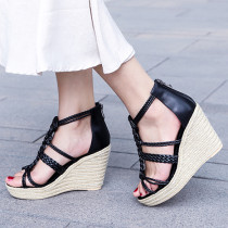 Arden Furtado summer 2019 fashion trend women's shoes sexy elegant pure color party shoes  narrow band mature concise