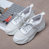 Arden Furtado spring and autumn 2019 fashion women's shoes cross lacing  gym shoes comfortable leisure small size 29 big size 46