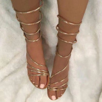 Arden Furtado summer 2019 fashion women's shoes gold sandals gladiator crystal rhinestone big size 45