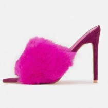 Arden Furtado summer 2019 fashion women's shoes stilettos heels slippers slides red feather mules 45