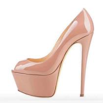Arden Furtado summer 2019 fashion women's shoes pure color peep toe classics concise mature pumps stilettos heels big size 45