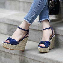 Arden Furtado summer 2019 fashion trend women's shoes sandals waterproof concise comfortable office lady bowknot butterfly knot