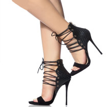 Arden Furtado summer 2019 fashion trend women's shoes stylish ankle strap  with black high heel sandals  sexy elegant big size 40