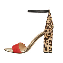 Arden Furtado summer 2019 fashion trend women's shoes bulk spring season leopard print beautiful girls block leopard medium heel sandals big size 45