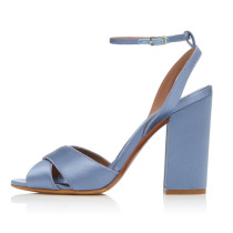 Arden Furtado summer 2019 fashion trend women's shoes buckle sandals chunky heels pure color  concise elegant office lady classics narrow band big size 45