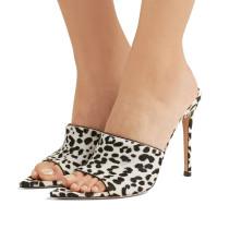 Arden Furtado summer  fashion women's shoes sexy elegant stilettos heels leopard slippers pvc mules