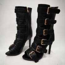 Arden Furtado summer 2019 fashion trend women's shoes belt buckle side zipper open toe high heel boots big size 47