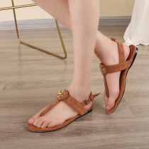 Arden Furtado summer 2019 fashion trend women's shoes button flat and plain open-toed sandals