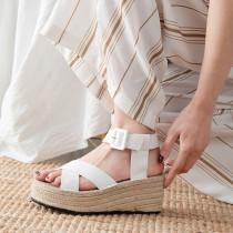 Arden Furtado summer 2019 fashion trend women's shoes waterproof platform and plain leather sandals