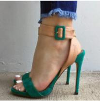 Arden Furtado summer 2019 fashion trend women's shoes stilettos heels  concise mature mixed colors office lady big size 47 sandals