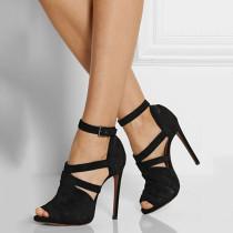 Arden Furtado summer 2019 fashion trend women's shoes stilettos heels sandals sexy black elegant concise big size 47 mature office lady