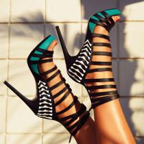 Arden Furtado summer 2019 fashion trend women's shoes stilettos heels zipper sandals office lady big size 47 narrow band sexy elegant