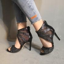 Arden Furtado summer 2019 fashion trend women's shoes stilettos heels zipper black sexy wire side big size 47 elegant sandals