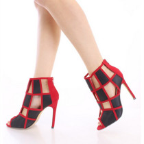 Arden Furtado summer 2019 fashion trend women's shoes zipper cool boots stilettos heels zipper party shoes mixed colors office lady mature big size  47
